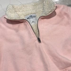 💖 Hollister XS Pullover quarter zips with Sherpa